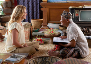 Eat Pray Love:a contrived re-telling of everything we've ever allowed ourselves to believe about the East.